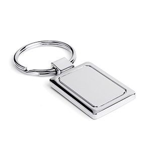 Silver Rectangle Keychain